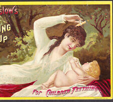 Mrs Winslow Soothing Syrup Baby Teething Cure 1887 Calendar Victorian Trade Card