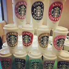 Starbucks Cup Reusable Personalized Coffee Cup tumbler mug custom name 16oz