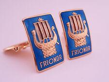 Antique Art Deco Einar Modahl Norway Sterling Silver & Gold Cufflinks FRIONOR