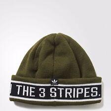 New Mens Adidas Originals Rib Logo 3 Stripes Taping Chunky Beanie Hat OS AY9079