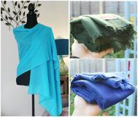 Soft Warm cashmere Wool Scarf Shawl Wrap Handmade Fine Knit Pashmina Christmas