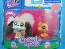 Littlest Pet Shop LPS - Brown Beagle Puppy Dog #2413 - Orange Kitty Cat #2414
