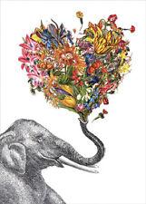 Love Elephant Tree-Free Greetings Blank Note Card