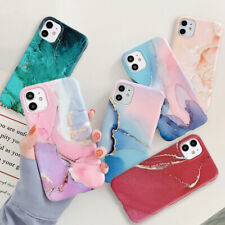 Case for iPhone 11 XS MAX  XR 8 7 6 Plus ShockProof Marble Phone Cover Silicone