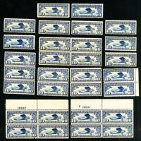 US Stamps # C10 F-VF OG NH Lot of 30 Catalog Value $375.00