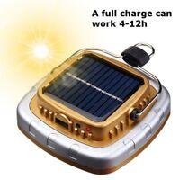 Solar Power/USB LED Flashlight Camping Hiking Rechargeable Light Lantern Lamp