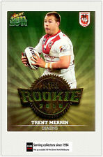 2011 Select NRL Champions Trading Cards Rookie 2010 R46 Trent Merrin (Dragons)