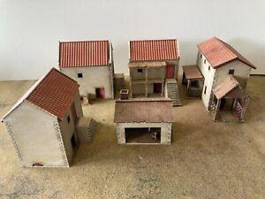 'NEW RELEASE' 28mm Spanish/Italian prePAINTED  building kits SET D