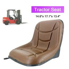 Universal Brown Tractor Forklift Seat Steel Frame Pvc Leather With Slide Rail