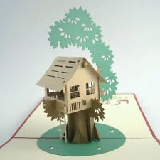 TREE HOUSE pop-up greeting card (beautiful & unique gift/decor/art)
