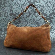 Rise-on LOUIS VUITTON Monogram Onatah PM Suede Brown Handbag Shoulder Bag #1