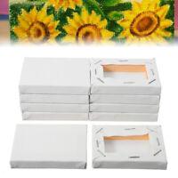 10Pcs 5x7cm Blank Mini Stretched Artist Canvas Art Board Acrylic Oil Paint White
