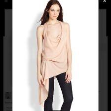 Haute Hippie Cowl Neck Asymmetric Silk Blouse Tunic Top $295.00 Size S