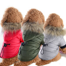 New listing Winter Warm Dog Cat Coat Clothes Padded Vest Pet Jacket Winter Hoodie Outwear