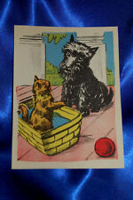 Vintage Corinne Malvern 1940 Scottish tErrier dog & Cat