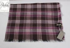 NWT Authentic Tom Ford Scarf Purple Plaid Cashmere Blend #Tf0913