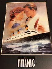 "Titanic Chromium Print Campaign B-Movie Poster, 10"" X 13"", New, With COA"