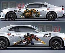 A Pair New Transformers Optimus Prime Bumblebee Car Door Vinyl Decal Sticker
