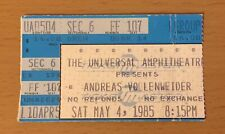 1985 Andreas Vollenweider Los Angeles Concert Ticket Stub White Winds Tour
