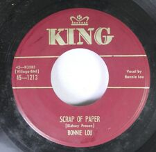 50'S/60'S 45 Sonnie Lou - Scrap Of Paper / Dancin' With Someone On King