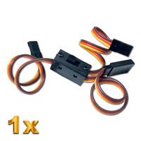 Ein Aus Strom Schalterkabel Schalter Power JR Graupner Futaba 3x BEC Stecker RC