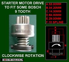 Motor De Arranque Piñón 9 diente de la unidad para ajustar algunos Bosch 233837 3332 19