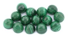 TWO 6mm x 5.5mm  Highdome Bullet Natural Malachite Cab Cabochon Gemstone EBS7967
