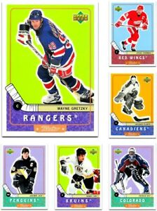1999-00 Upper Deck RETRO **** PICK YOUR CARD **** From the BASE SET