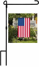 Garden Flag Iron Metal Pole Flagpole Stand Holder Decor Banner Bracket Outdoor