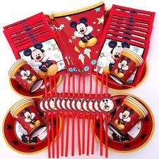 68pcs Red Mickey Mouse Party Supplies, Mickey Mouse Party Banner, Birthday