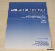 YAMAHA cdx-480/cdx-580/cdx-880 manuale d'uso tedesco, multilingue