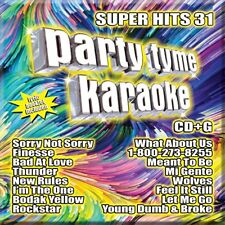 PARTY TYME KARAOKE CD - SUPER HITS 31 (2018) - NEW UNOPENED