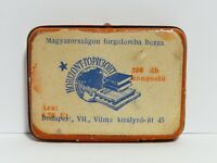 Paprer label SOVIET Gramophone Needle Tin nadeldose with hungarian 1945 Hungary
