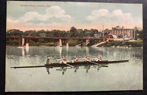 1908 Mt Brydges Canada Picture Postcard Cover To USA Thames River