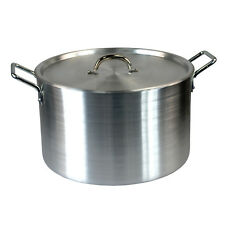 "Super Large 21.5"" Casserole Aluminium Kitchen Cooking Pan Saucepan Pot Lid Set"