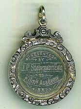 More details for scottish, unmarked silver, kilmarnock academy dux medal, 1882 to fred. c. corey