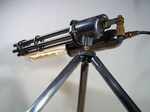 Unique Antique/Vintage Industrial/Steampunk Table/Floor Lamp Gatling Gun Display
