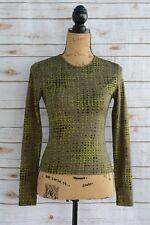LA CITY Habille Les Femmes Nues PARIS Green dot print long sleeve stretch tee, 2