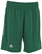 Adidas Mens Shorts Sports Running Gym Basketball Green Elasticated E Kit 3.0