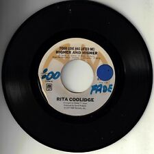 "RITA COOLIDGE! - ""HIGHER AND HIGHER"" B/W ""WHO'S TO BLESS"" A&M ST 45VG VPI CLEAN!"