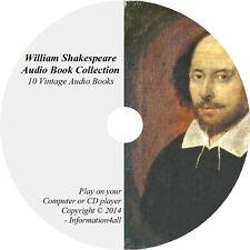 William Shakespeare Books Mp3 Audio CD Romeo and Juliet Macbeth Julius Caesar