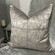 John Lewis & Partners Kyla Cushion Cover, GREY , SILVER Designer Home Interiors