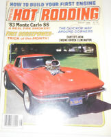 Popular Hot Rodding Magazine '83 Monte Carlo SS August 1983 NO ML 080814R