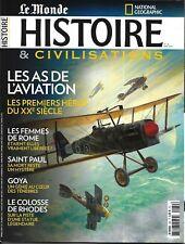 HISTOIRE&CIVILISATIONS n°39 mai 2018 As de l'aviation_Femmes Rome_Colosse Rhodes