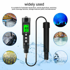 Dissolved Oxygen Meter Temperature Water Quality DO Tester Aquaculture Analyzer