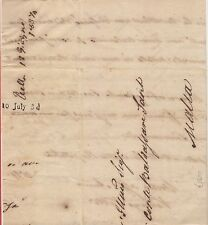 1837 Marseille to Malta Entire Letter 5d Arrival Charge Mark A5 Proud #2370