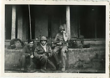 PHOTO ANCIENNE - VINTAGE SNAPSHOT - MILITAIRE RADIO TRANSMISSION TONKIN VIETNAM