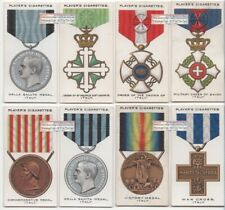 Italy Post WWI Military War Decorations and Medals EIGHT 1920s Ad Trade Cards