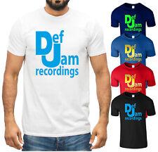 Def Jam Recordings T Shirt Rap 80s Beastie Boys DMX DJ Music Festival Mens Tee
