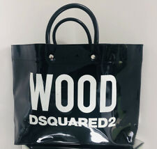 WOOD DSQUARED2 Black Patent Shopper PVC Bag
